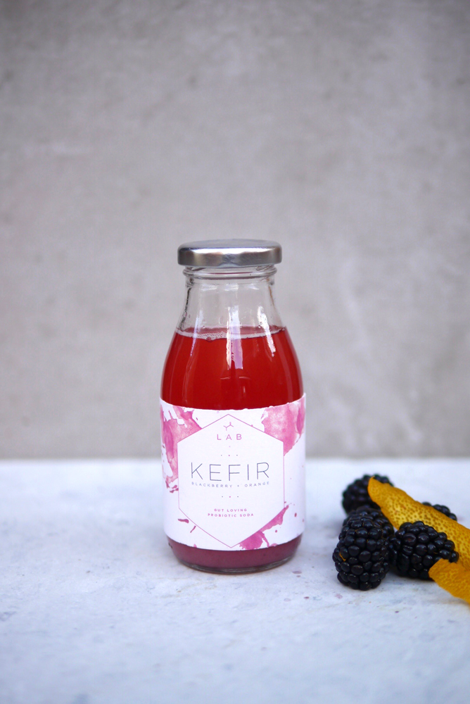BLACKBERRY + ORANGE KEFIR