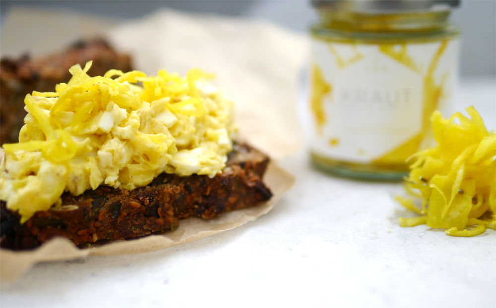 Curried Parsnip Kraut Egg Mayo