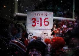The old standby, John 3:16, has a decidedly American update.