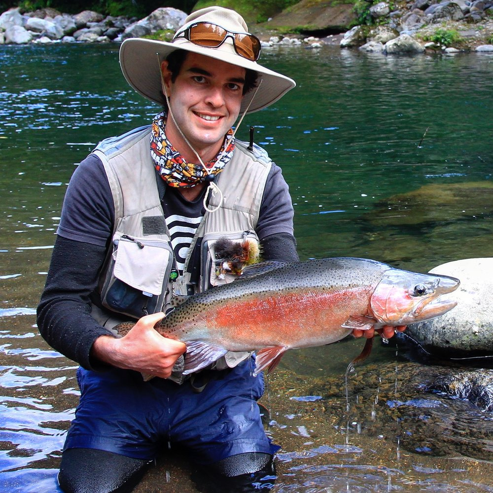Fly Fish New Zealand for Trophy Rainbows - Are you a dry fly enthusiast? Then New Zealand is the place for you. Gin clear water and rising fish. We specialize in trips targeting rainbow trout because of their power and acrobatics. Contact us for more details.