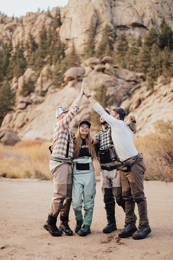 Fly-fishing with genuinely good people. Laughs, encouragement, and lots of high fives! Photo Credit: Black Mountain Cinema