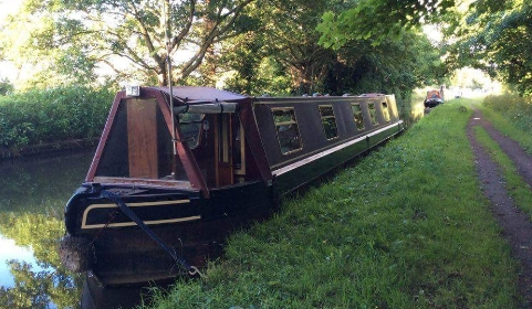 A picture of the clients narrow boat home; 'Queenie'