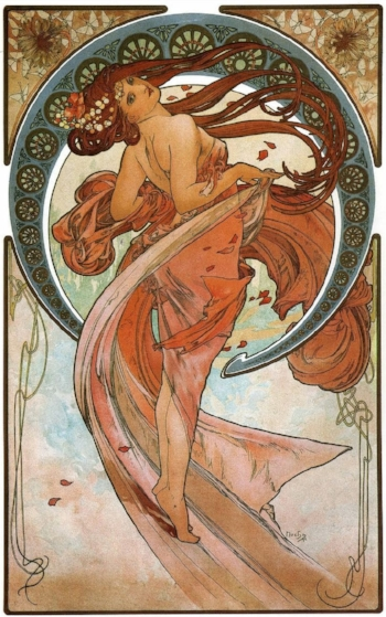 'Dance' Mucha. Circa 1889
