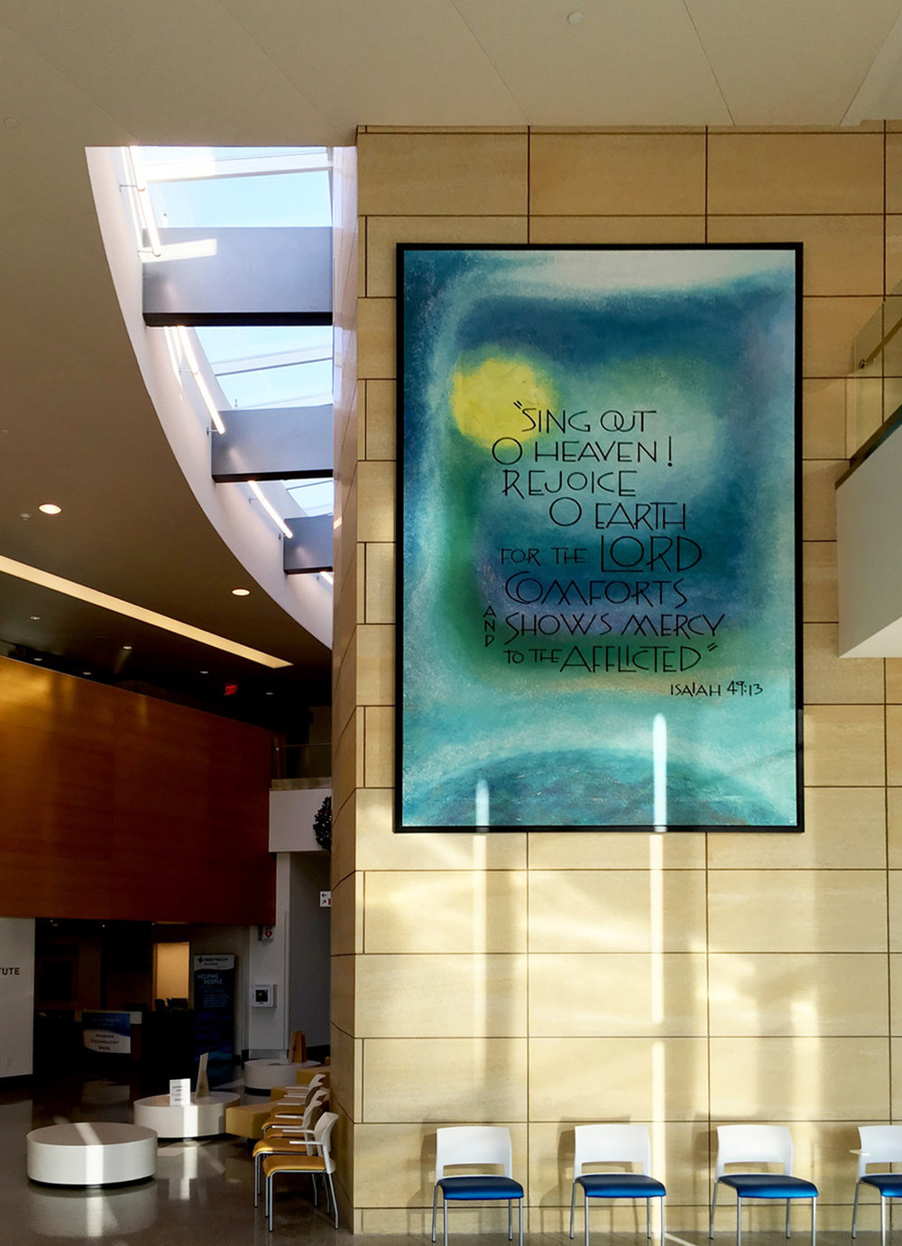 Charming Mercy West Hospital Healthcare Interior Art Painting Lobby Design Cincinnati  Ohio