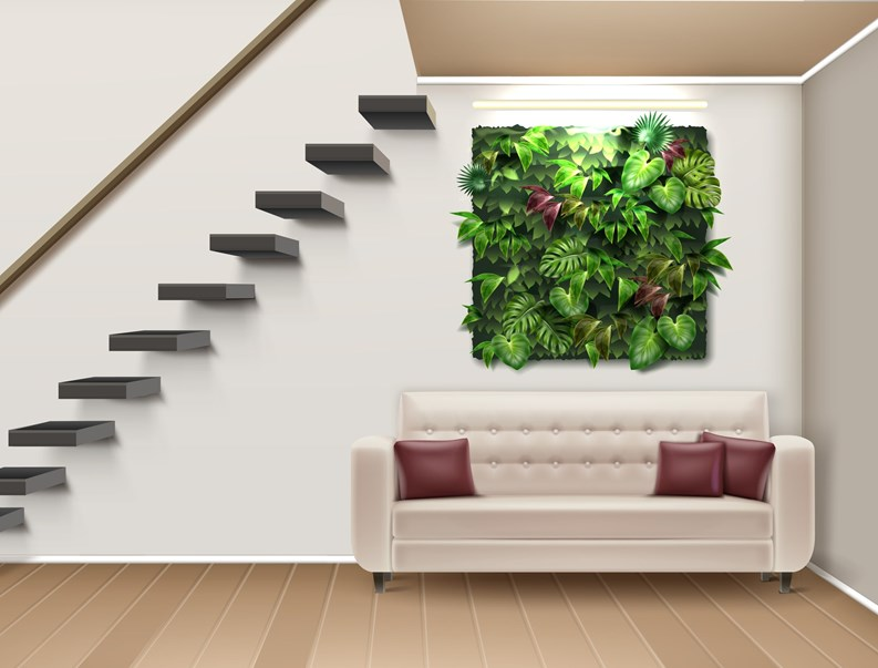 Admirable Green Walls Bring Nature Inside Your Home Living Interior Design Ideas Oteneahmetsinanyavuzinfo