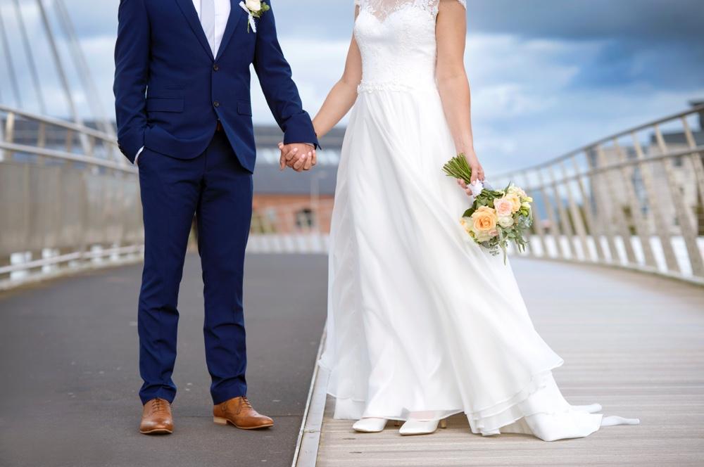 Swansea city wedding
