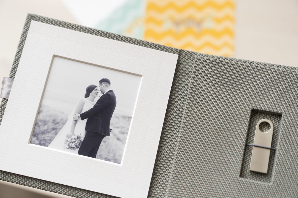 Complete with a keepsake usb folio for Laura & Dan's wedding video.