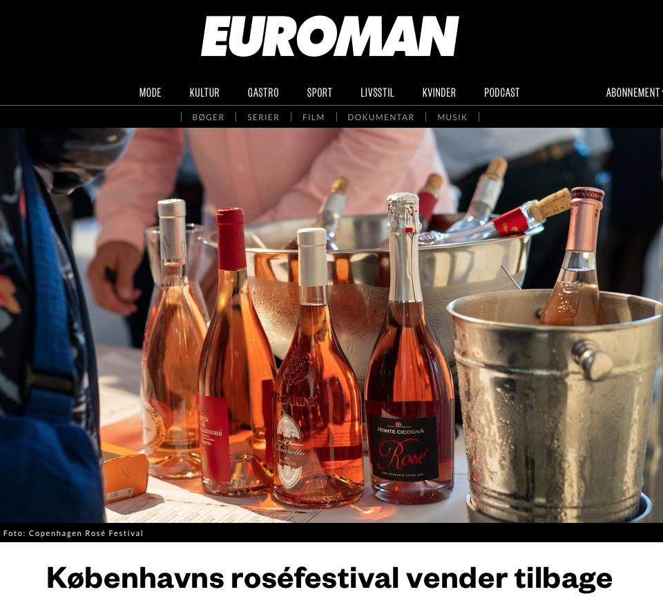 Copenhagen Rosé  Festival x EUROMAN