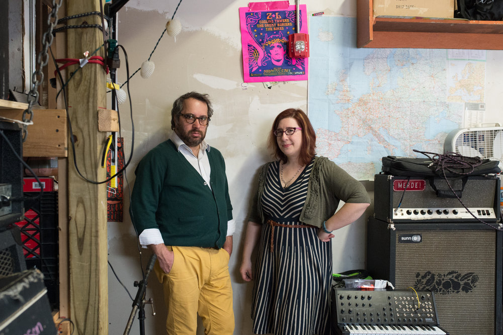Musicians Chris Braiotta and Emily Arkin, Somerville, Massachusetts