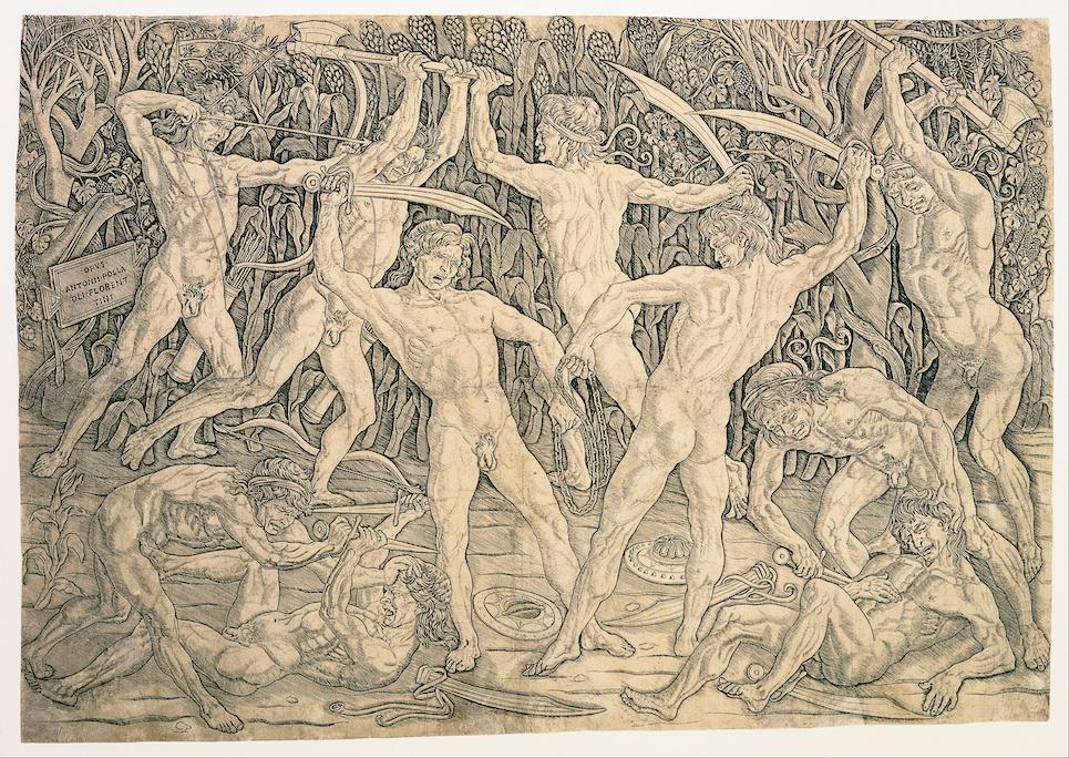 The Battle of the Nudes , Antonio Pollaiuolo c.1470