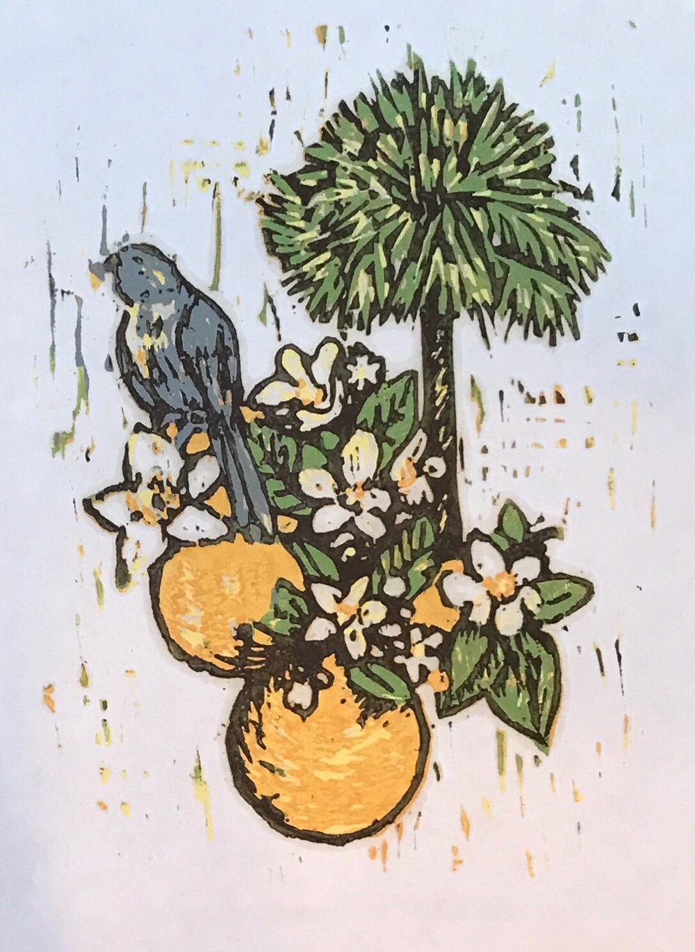 "Sunshine State        8"" x 10""              Woodcut"