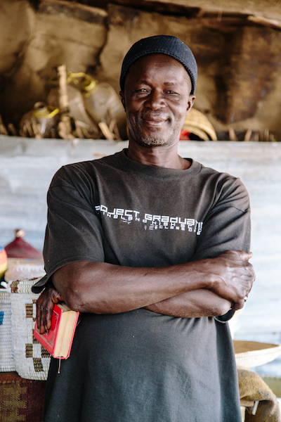 Iba Mbaye, our basket vendor and market chief in Theis, Senegal.