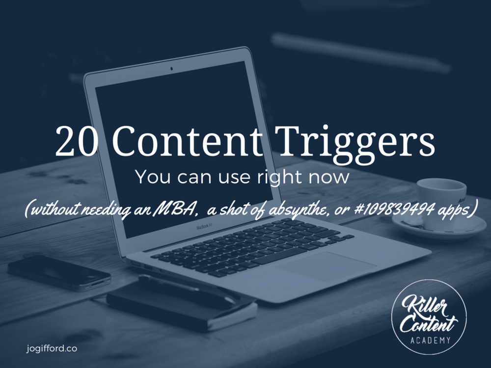 content plan triggers
