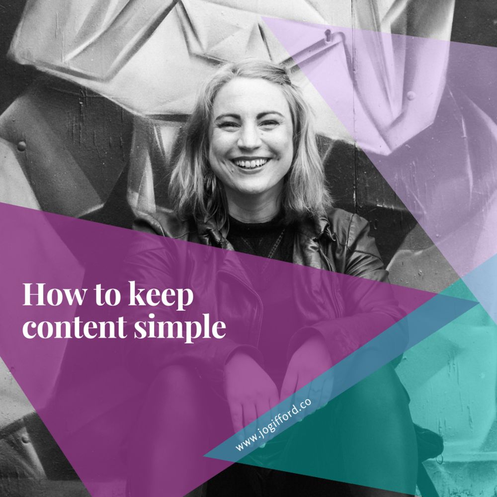 How to keep content simple