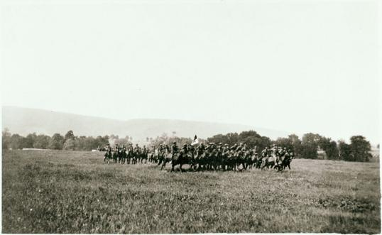 The Boal Troop in calvary formation, c. 1916