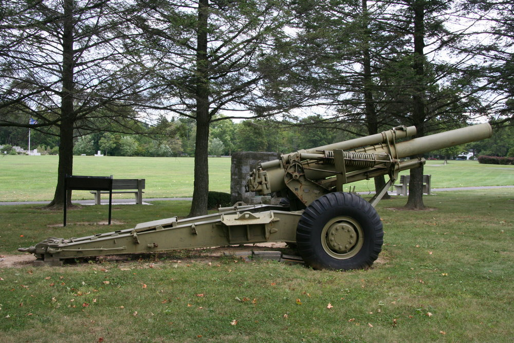 M114A2 155mm Howitzer : The M114A2 howitzer, introduced in 1942 as the M1, served in World War II, Korea, and Vietnam with the Army and Marine Corps. It also served with the National Guard in the 1980s. Its 11-man crew could fire forty rounds per hour, lobbing each 85-pound shell nearly nine miles. The M114A2 remains in service in forty countries worldwide as of 2004.