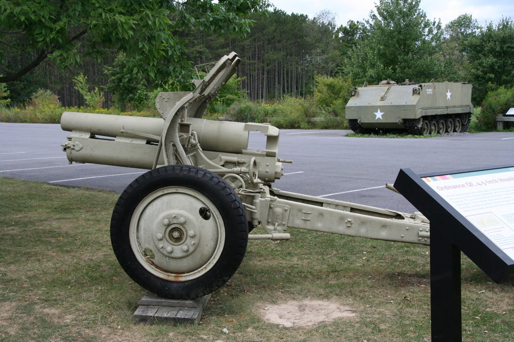"4.5"" Howitzer: British commanders who had fought in the Boer War in South Africa, 1899 to 1903, were impressed with the success of the enemy's howitzers. After five years of testing, the British army approved its own new howitzer. The 4.5"" howitzer remained in service for 35 years and saw action in both World War I and World War II. The howitzer also served Canada, Australia, and New Zealand. This howitzer most likely served with the Canadian Army. Horses pulled the first Mark I howitzers into battle. In 1938, the British Army adapted the howitzer for mechanized towing. The York, Pennsylvania firm of Martin-Parry produced the conversion kits for all British field guns mechanized in 1938."