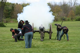 The Pennsylvania Military Museum in Centre County will host a Civil War era artillery drill and recruitment drive by the 3rd PA Volunteers on Saturday MAY 06 at 10 am.    Photo Credit: J. Horvath