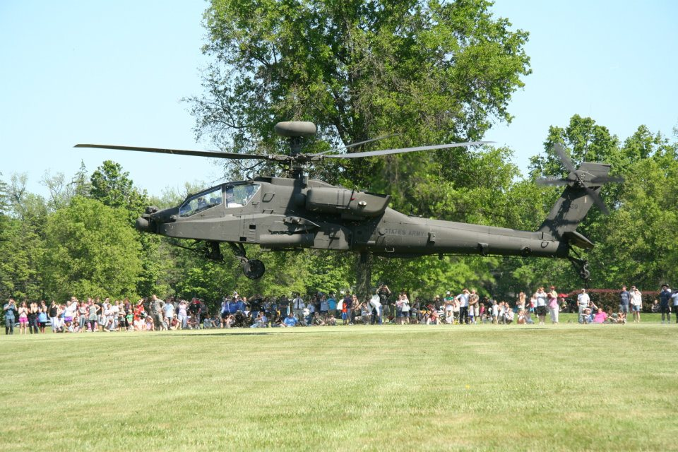 An Apache helicopter lands on the grounds of the Pennsylvania Military Museum in this file photo of the PA National Guards' Celebration of Service - a 98-year-old tradition honoring fallen members of the 28th Division at 51 Boal Ave, Centre County being held on Sunday, May 21 at 12:30 p.m.  The public is invited to attend. Credit: J. Horvath