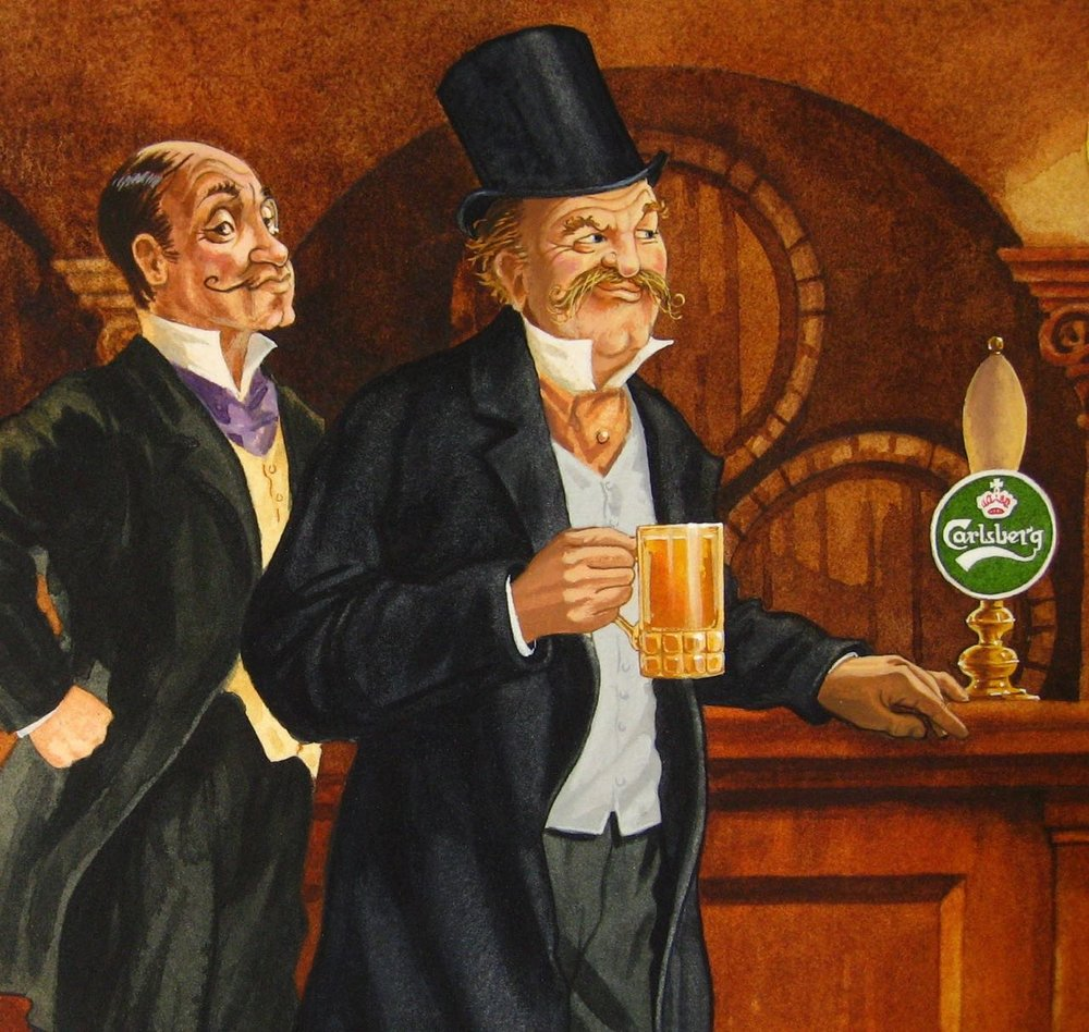 Detail from Carlsberg poster.
