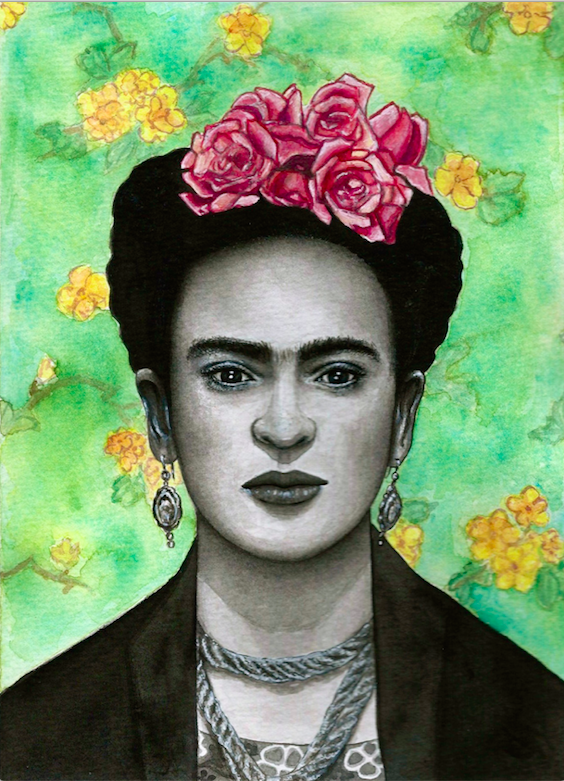 """Frida"" (watercolor)"