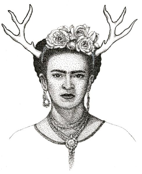"""Stag Frida"" (pen)"