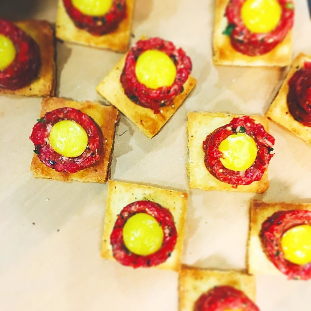 our beef tartare bites