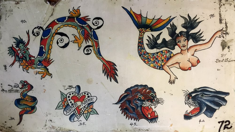Dragon and Floating Mermaid with Roaring Panthers. Date and location created are unknown.