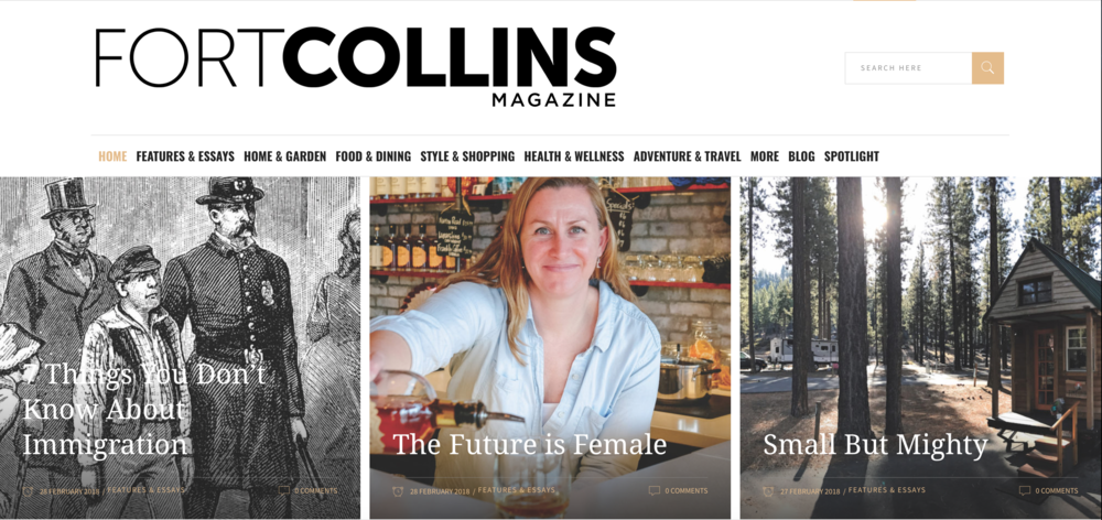 Here's a recent feature I wrote on the tiny house trend in Colorado for Fort Collins Magazine .