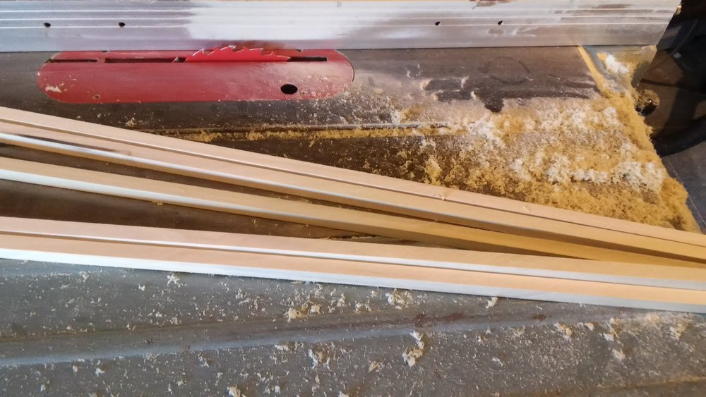 "Rough sawn 1/2"" square poplar arrow blanks"