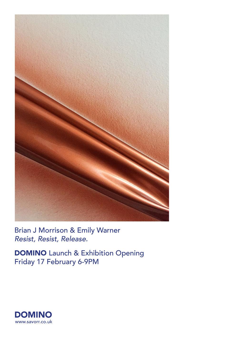 Brian J Morrison + Emily Warner:Resist, Resist, Release.  Opening performance + Install documentation