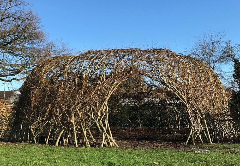 Weaving and pruning complete.    photo courtesy spencer jenkins