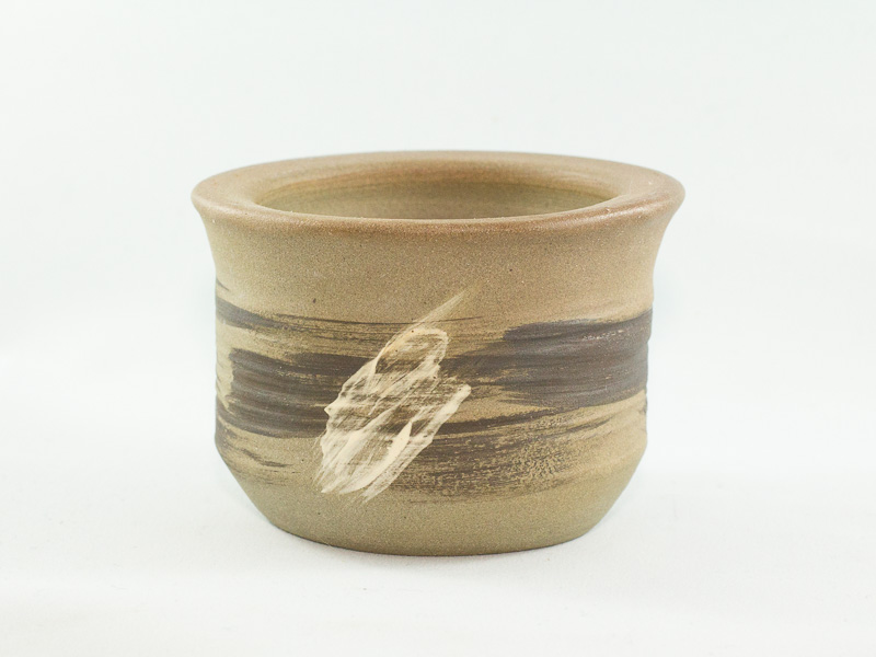 "3.5"" Unglazed Semi-Cascade Bonsai Pot"