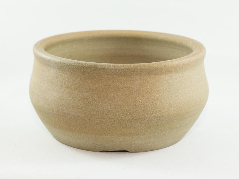 "Round 4.25"" Unglazed Bonsai Pot"