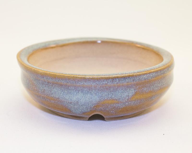 """Rutile Blue 3.5"""" Round Kusamono Pot"""
