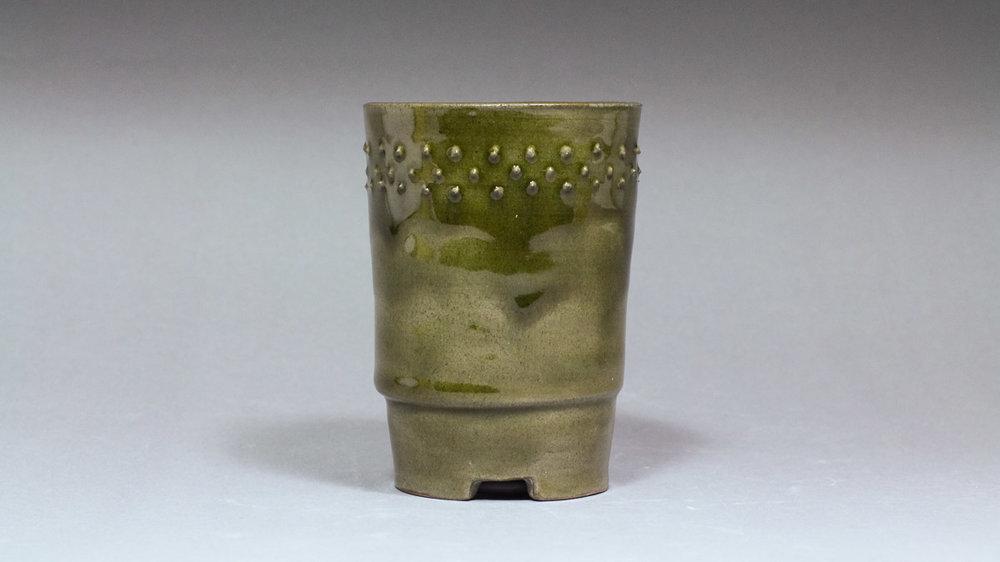 """Dark Forest Moss 2.75 x 3.75"""" Cascade Bonsai Pot"""