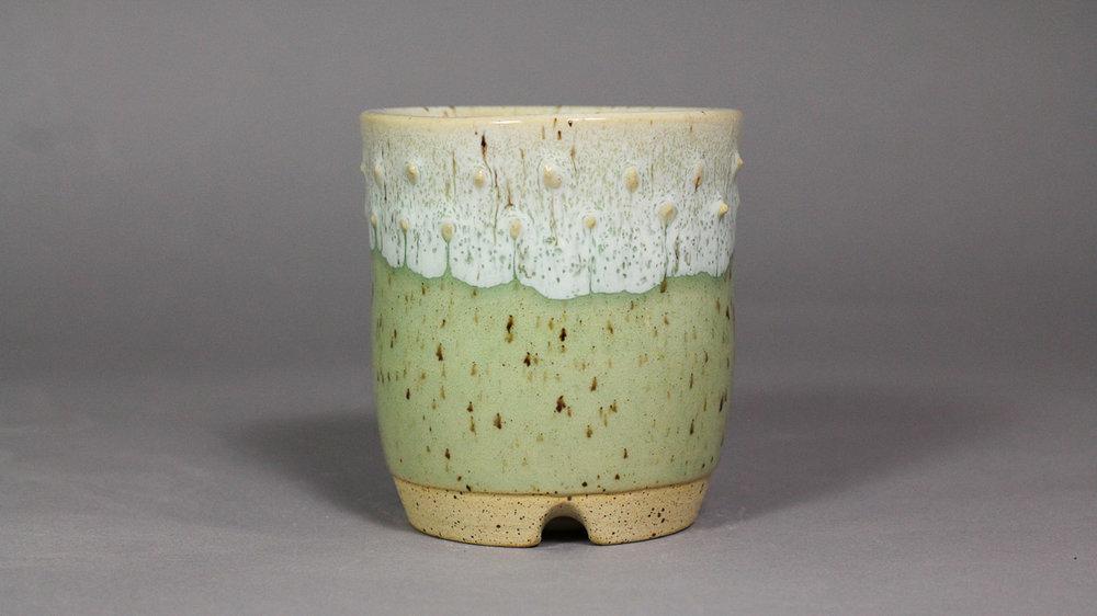 "Ocean Jade 3.25"" Drum Style Semi-Cascade Bonsai Pot"