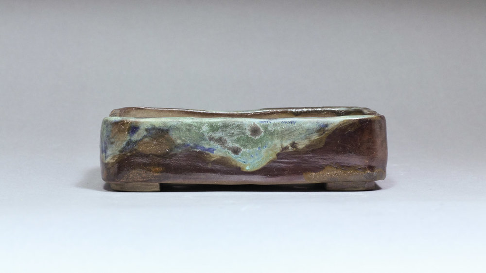 """Misty Mountain 5.25"""" Rectangle Bonsai Pot with Rounded Corners"""