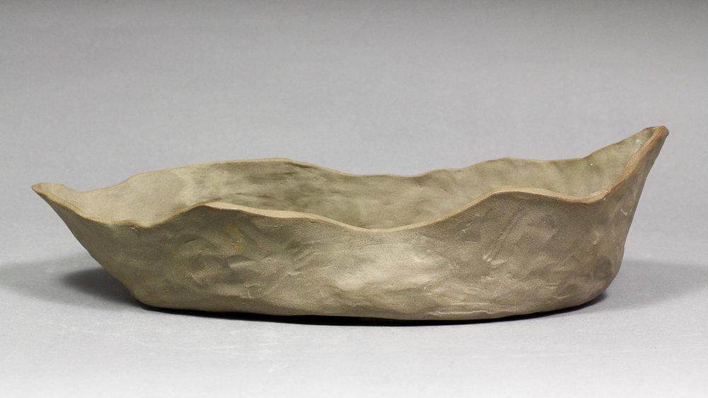 """Stone Mountain Cliff 13"""" Unglazed Bonsai Pot"""