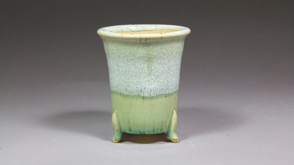 """Japanese Style 4.125"""" Orchid Pot with Feet"""