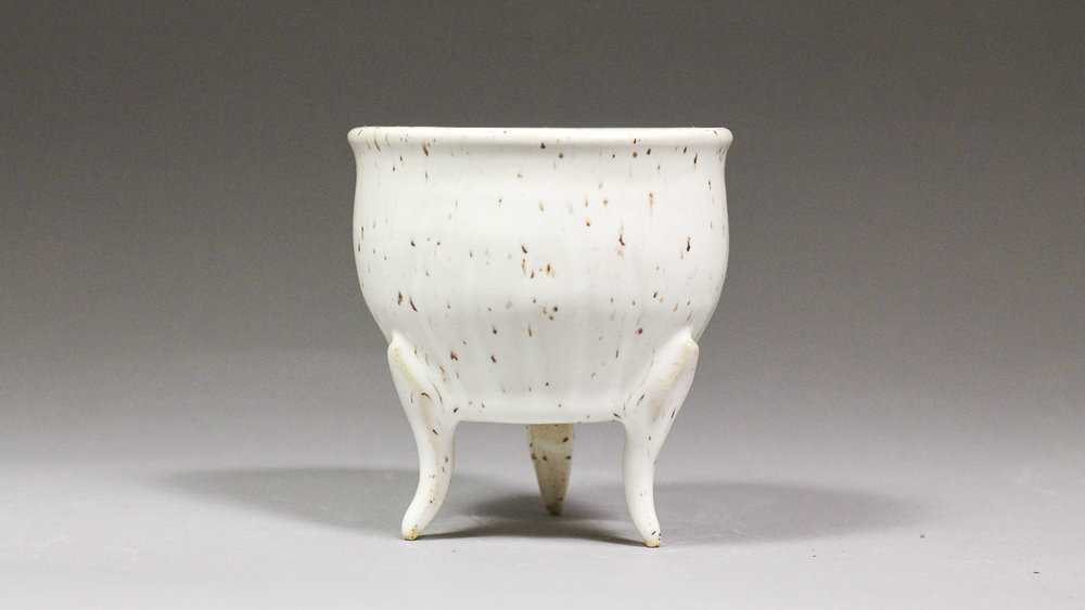 "Leggy 3.5"" Speckled White Succulent Planter"