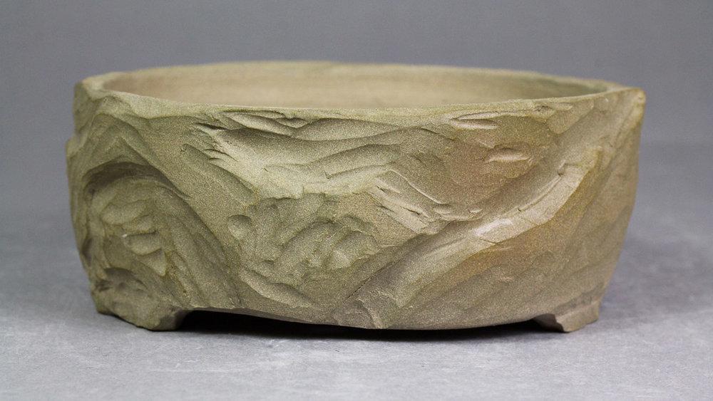 """Rocky Mountain Cliff 5"""" Round Bonsai Pot"""