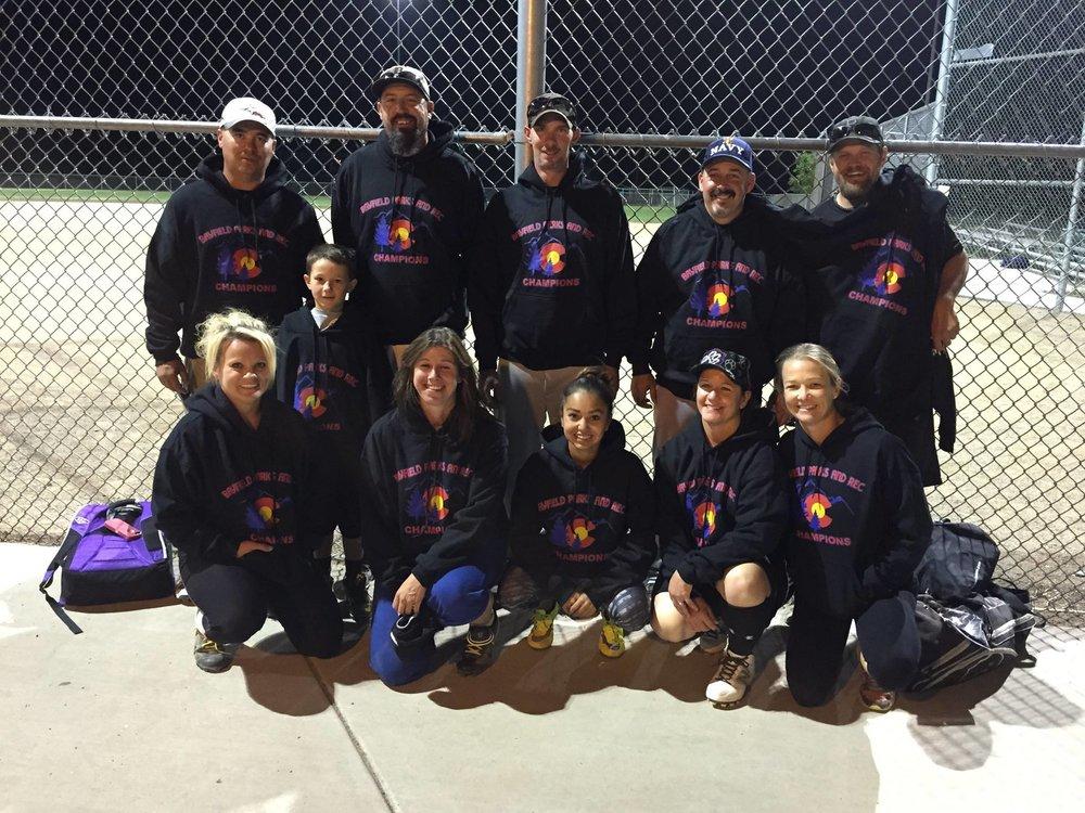 2015 Softball Champions - Coed Rec
