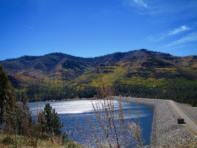 """Vallecito Lake"" by Frank Swift is licensed under CC BY-NC-SA 2.0"