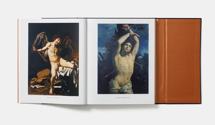 Caravaggio,  Amor Victorius , 1601-2 and Guido Reni,  Saint Sebastian , c. 1615  Oil on canvas, 127 x 92 cm (50 x 361/4 in)  Palazzo Rosso, Musei di Strada Nuova, Genoa