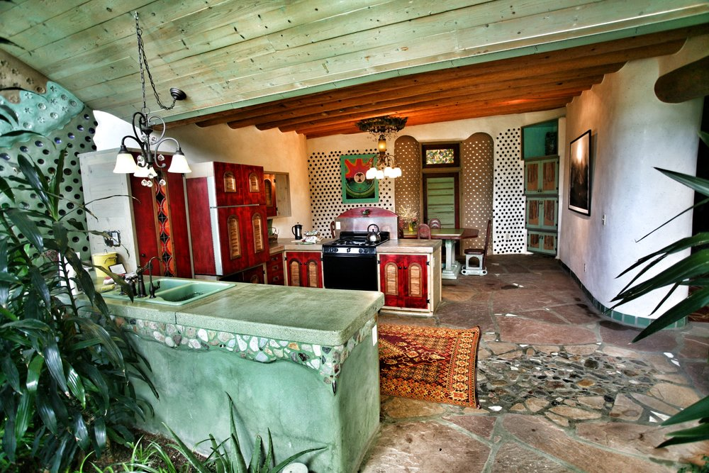Phoenix Earthship kitchen and dining area.