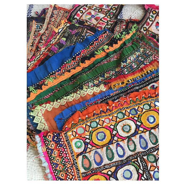 So thrilled about these one-of-a-kind Indian embroideries we just got in! They were meticulously embroidered by hand many years ago and salvaged from the original garments. These could be on your denim jacket! DM us for details!