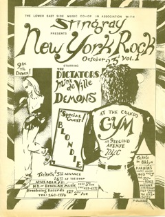 The Demons with New York City legends—Blondie, Mink DeVille and The Dictators.