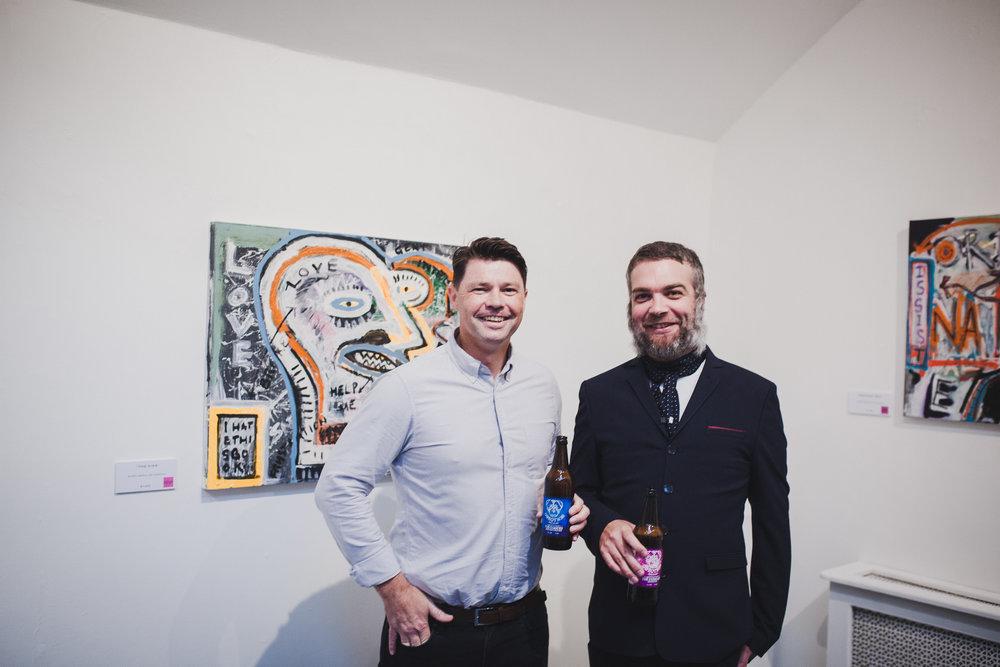 Artist Pigsy (Ciaran McCoy) and Curator SteveKemp