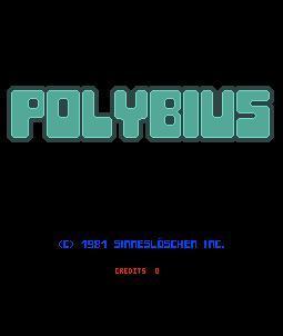 Polybius start screen